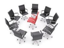 De stoelen van het bureau royalty-vrije illustratie