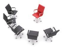 De stoelen van het bureau stock illustratie