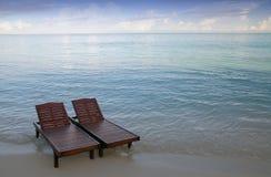 De stoelen van het canvas Stock Foto