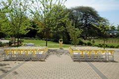 De stoelen van het huwelijk Royalty-vrije Stock Foto's