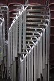 De stoelen van het metaal Stock Afbeeldingen