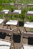 De stoelen van het ontvangsthuwelijk Stock Fotografie