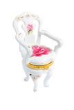 De stoelkist van het porselein die op een witte backgro wordt geïsoleerdt Royalty-vrije Stock Foto's