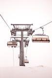 De stoellift bij skitoevlucht Zell Am ziet, Kaprun in Oostenrijk Stock Afbeeldingen