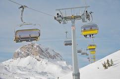 De stoellift van de ski Stock Fotografie