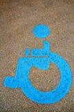 De stoelsymbool van het wiel op straat Royalty-vrije Stock Fotografie