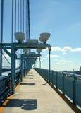 De Stoep van de brug stock foto's