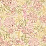 De stof bloeit naadloze patroonachtergrond Royalty-vrije Stock Afbeeldingen