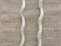 De stof en het koord van het linnen Stock Afbeelding