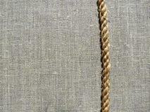 De stof en het koord van het linnen Stock Foto