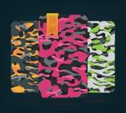 De stof op militaire camouflage op achtergrond Royalty-vrije Stock Afbeelding