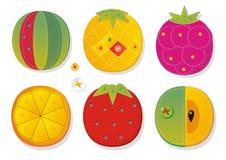 De stof van het fruit applique Royalty-vrije Stock Foto