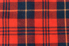 De stof van het geruite Schotse wollen stof Royalty-vrije Stock Foto