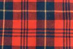 De stof van het geruite Schotse wollen stof Royalty-vrije Stock Fotografie