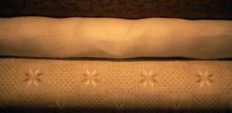 De stof van het linnen Stock Fotografie