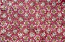 De stof van Indain met bloemenborduurwerk Stock Afbeeldingen