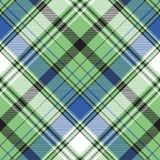 De stoffen textiel naadloos patroon van de geruit Schots wollen stofplaid stock illustratie