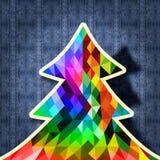De stoffenachtergrond van het kerstboomontwerp hipster Royalty-vrije Stock Foto