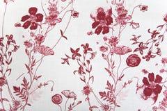 De stoffentextuur van de bloem Stock Afbeelding