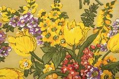 De stoffentextuur van de bloem, gekleurde installaties Stock Fotografie