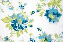 De stoffentextuur van de bloem, groene installaties Stock Foto