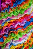 De stoffentextuur van de Foldenkleur stock fotografie