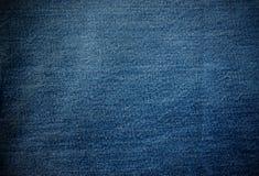 De stoffentextuur van jeans Royalty-vrije Stock Afbeeldingen