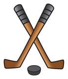 De stok & de puck van het hockey Royalty-vrije Stock Fotografie