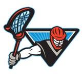 De Stok van Crosse van de lacrossespeler royalty-vrije illustratie