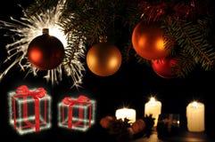 De stok van de kerstboom Stock Afbeeldingen