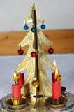 De stok van de Kerstmiskaars Stock Afbeelding