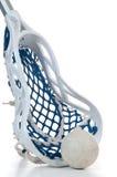 De stok van de lacrosse met bal Royalty-vrije Stock Afbeeldingen