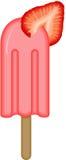 De Stok van het aardbeiroomijs Stock Foto