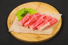 De stok van krabsurimi stock foto