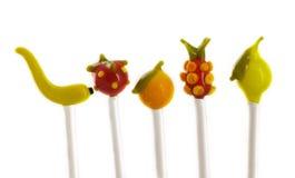 De stokken van het fruit coctail stock foto