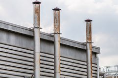 De stoom van de de pijpopening van de ventilatieschacht Stock Afbeeldingen