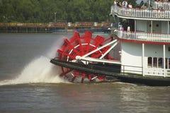 De stoomboot van de peddel op de Mississippi Stock Foto