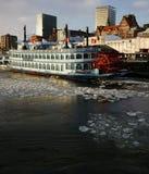 De Stoomboot van de Peddel van Hamburg Stock Foto