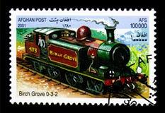 De stoomtrein van berkbosje 0-3-2, Locomotieven serie, circa 2001 Royalty-vrije Stock Foto's