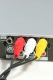 De stoppen van de input met kabels Stock Fotografie