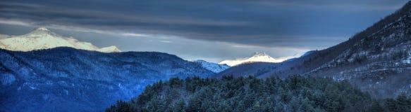 De stora bergen Arkivbild