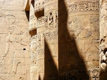 De stora pelarna av Karnak Arkivbild