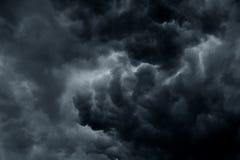 De stormachtige regen betrekt achtergrond Stock Foto's