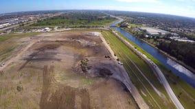 De Stortplaats4k luchtvideo van Florida stock footage