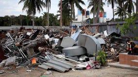 De stortplaats in Koh Samui, Thailand stock footage