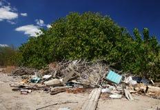 De stortplaats van het huisvuil Stock Foto
