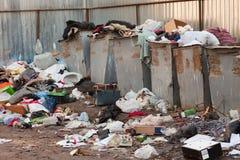 De stortplaats van het huisvuil Stock Foto's