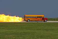 De straal Bus van de School Stock Afbeeldingen