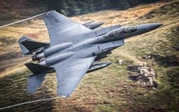 De straal van de USAF F15 stock afbeeldingen