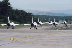 De Straal van de USAF Thunderbirds, F-16C Valk Stock Foto